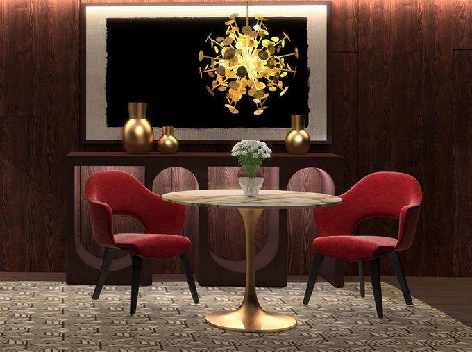 Обеденный стол Apriori T золотого цвета