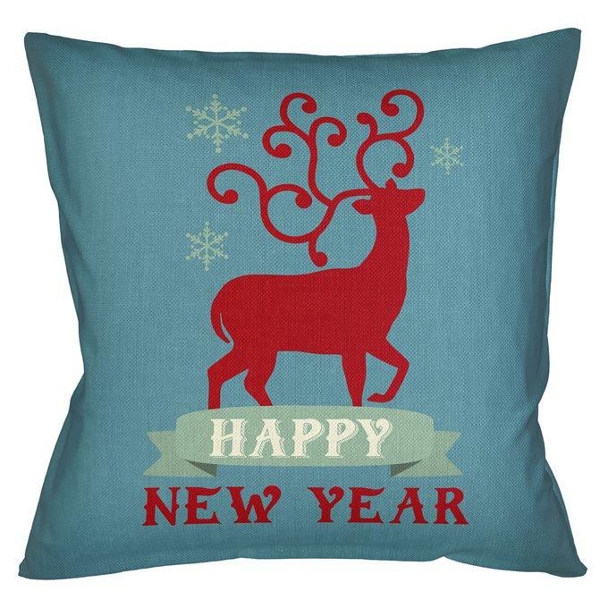 Декоративная арт подушка Новогоднее настроение версия 9