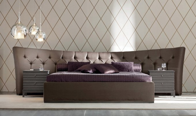 """Кровать """"Letto GM 15"""" с обивкой из экокожи  200x200 см"""