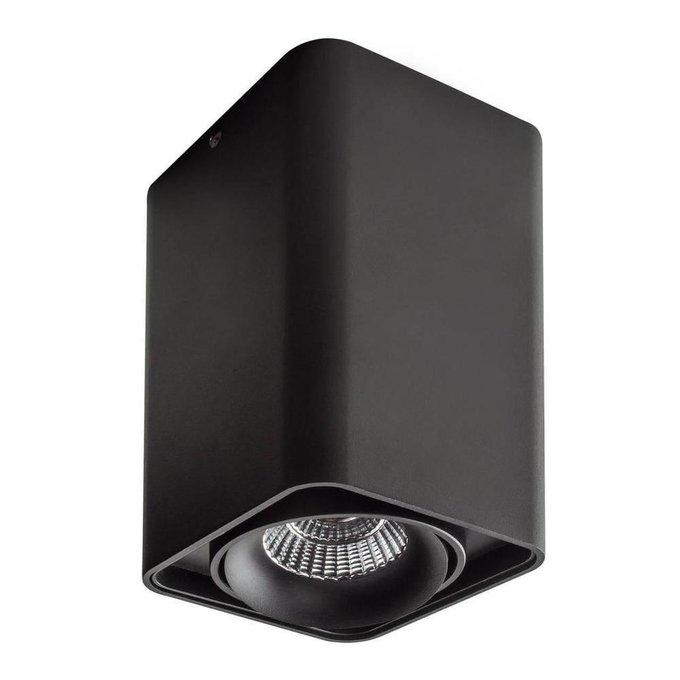 Потолочный светодиодный светильник Monocco черного цвета