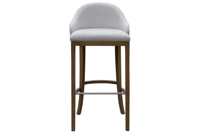 Барный стул Prado new в обивке белого цвета