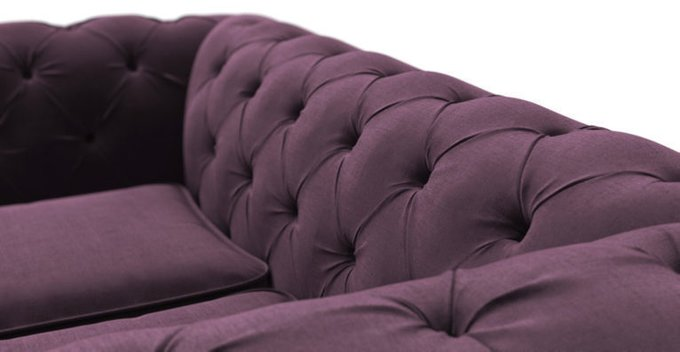 Раскладной  диван Chesterfield Lux MTR фиолетового цвета
