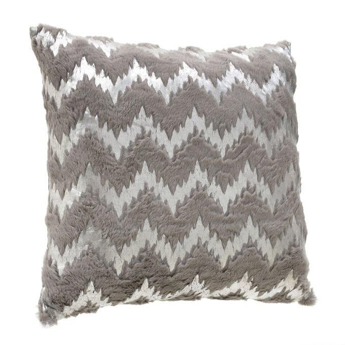 Декоративная подушка из хлопка серого цвета