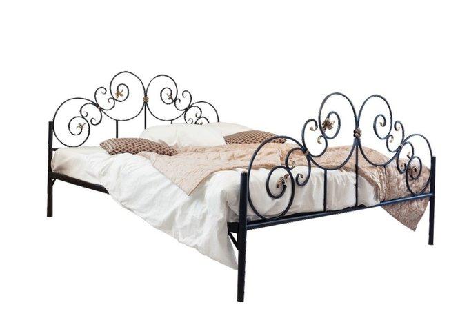 Кованая кровать Афина 1.6 с двумя спинками 160х200