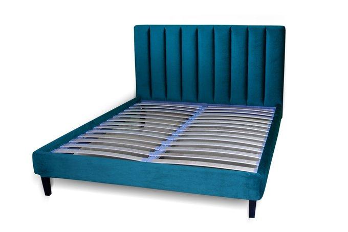 Кровать Клэр синего цвета 200х200 с ящиком для хранения