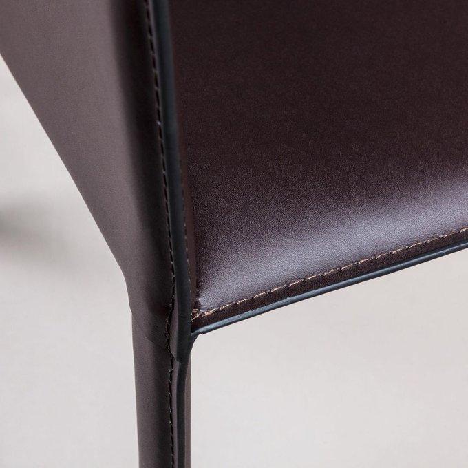 Стул полубарный Barrie темно-коричневого цвета