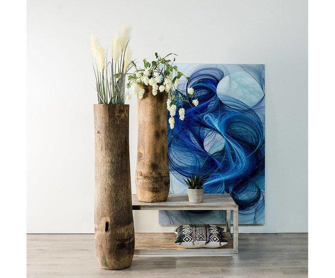 Напольная ваза из дерева