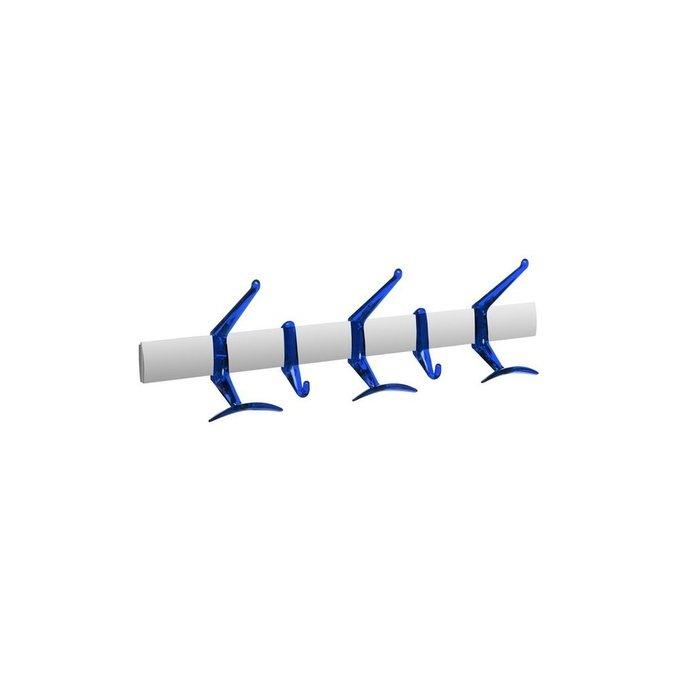Вешалка Hanger с крючками синего цвета