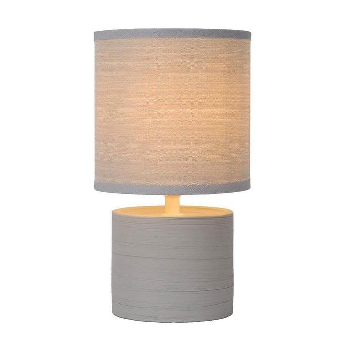 Настольная лампа Greasby серого цвета