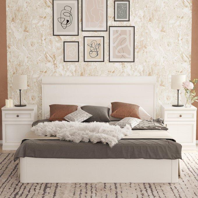 Кровать Белладжио 140х200 белого цвета с подъемным механизмом