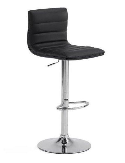 Барный стул из искусственной кожи Julia Grup Danae с регулируемой высотой (черный)