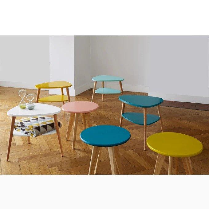 Прикроватный столик Jimi синего цвета