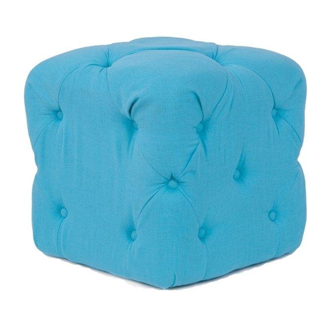 Пуф Amrit teal голубого цвета