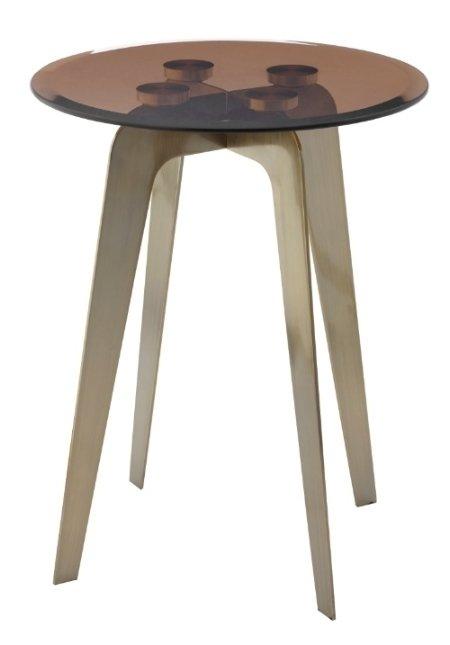 Приставной столик Volterra со стеклянной столешницей