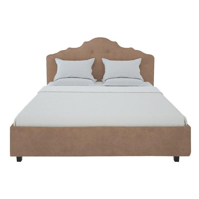 Кровать Palace Велюр Серо-коричневый 180x200