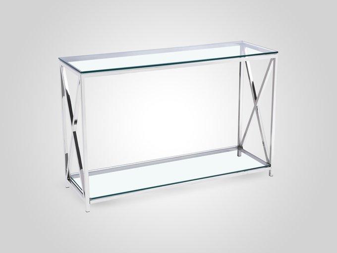 Консоль из металла со стеклянной столешницей