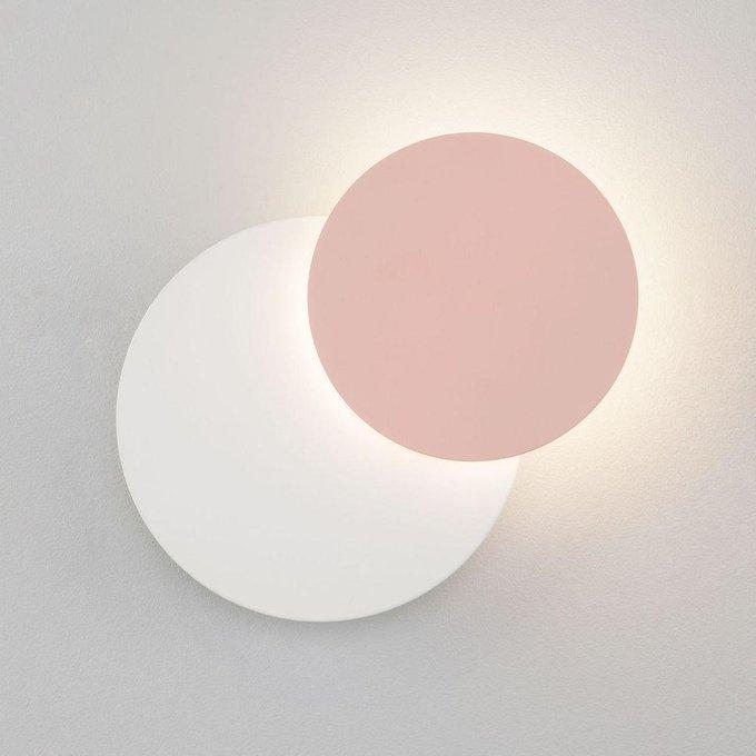 Настенный светодиодный светильник Figure бело-розового цвета