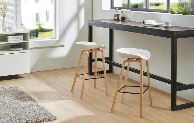 Барный стул с белым сидением