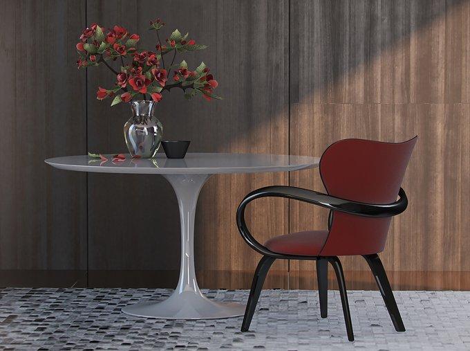 Обеденный стол Apriori Т со столешницей цвета бук