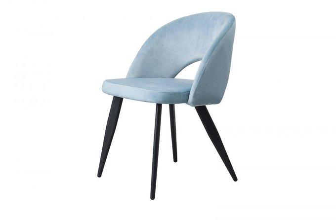 Мягкий стул Beatrice с голубой обивкой
