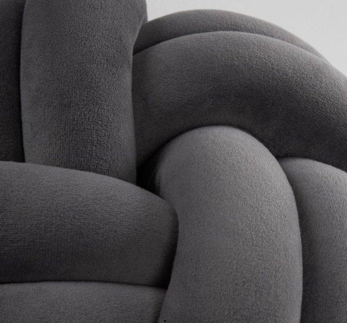 Подушка Риенци темно-серого цвета