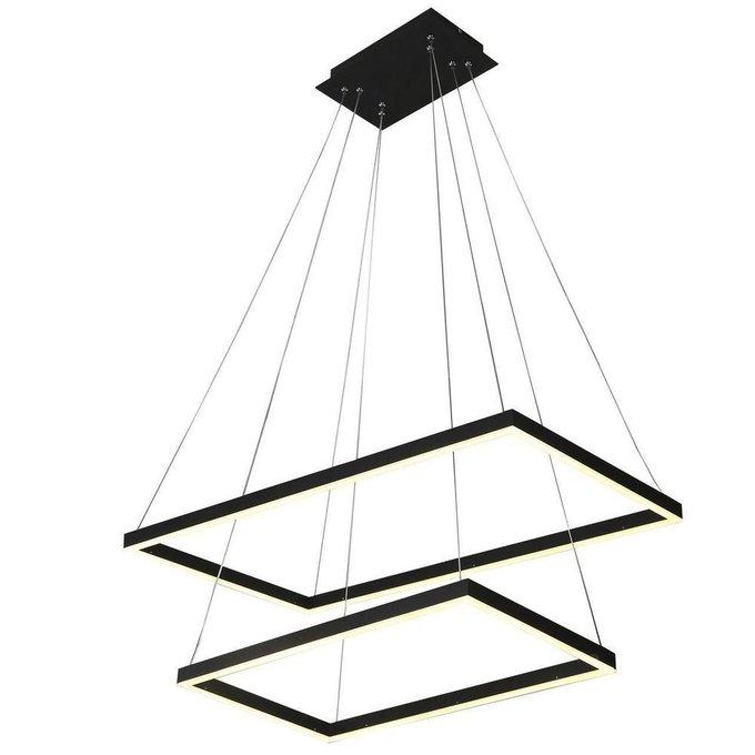 Подвесная светодиодная люстра Альтис черного цвета