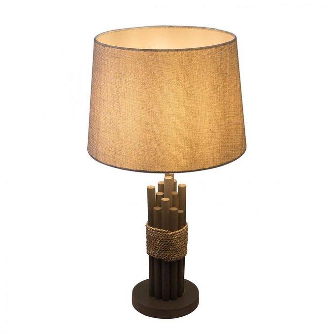 Настольная лампа Livia с серым абажуром