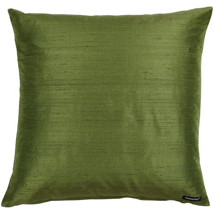 Декоративная подушка Dupion зеленого цвета