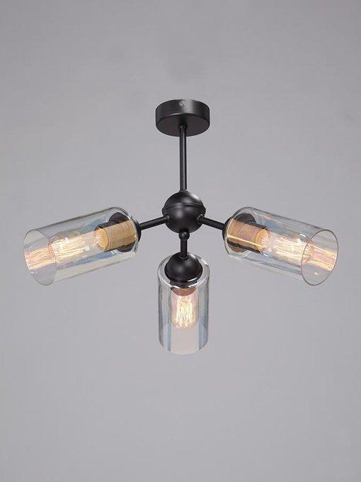 Потолочная люстра с прозрачными плафонами