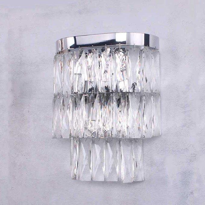 Настенный светильник с плафоном из хрусталя