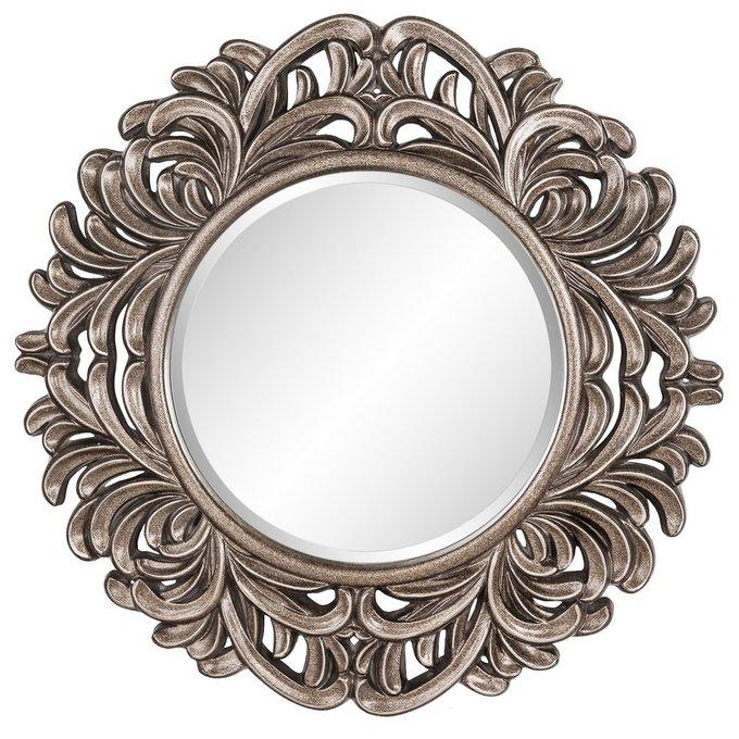 Настенное Зеркало в раме модерн Palm Silver