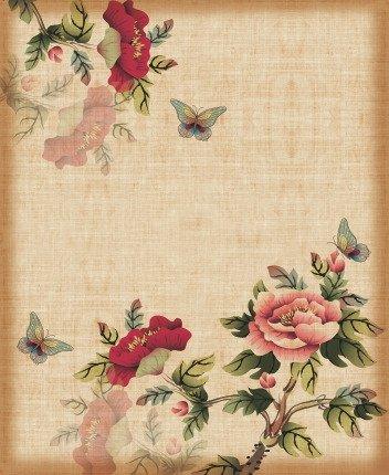"""Декоративная картина на холсте """"Цветы и бабочки"""""""