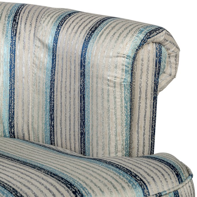 Кресло Charlotte Bronte Белое в полоску