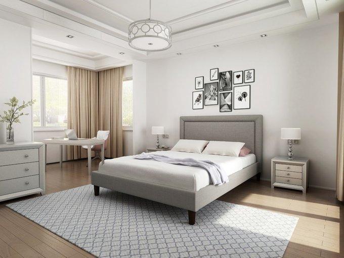 Кровать Laval Upholstered серого цвета 180х200