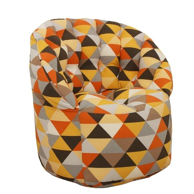 Кресло-пуф желтый