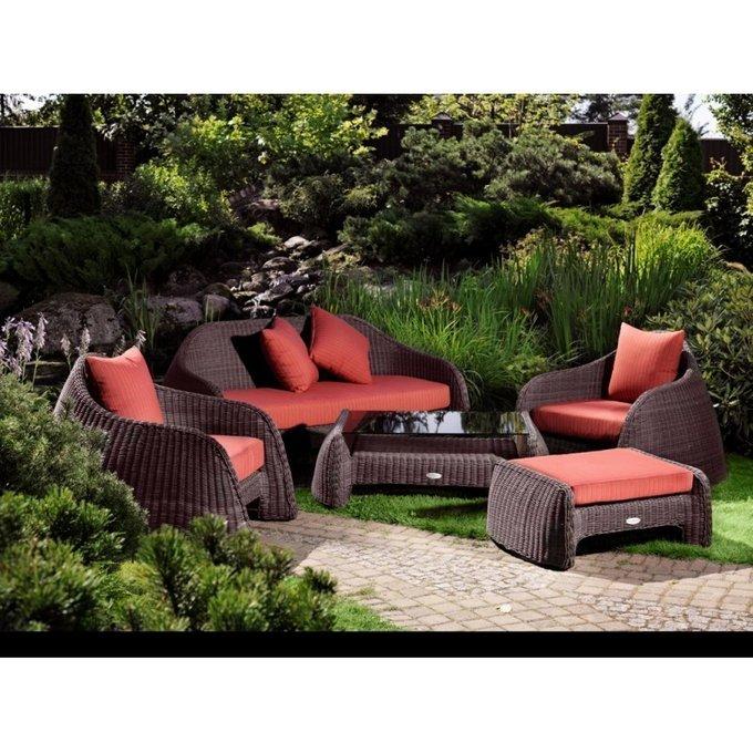 Кресло Астра с красными подушками
