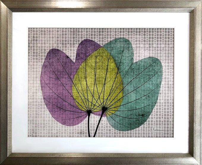 Английская репродукция картины Листья орхидеи