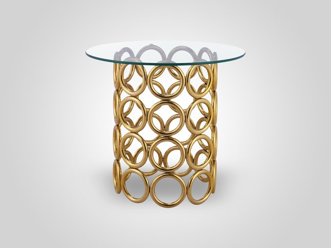 Кофейный столик со стеклянной столешницей