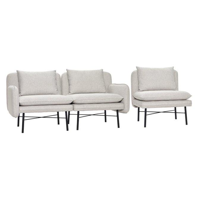 Светло-серый модульный диван