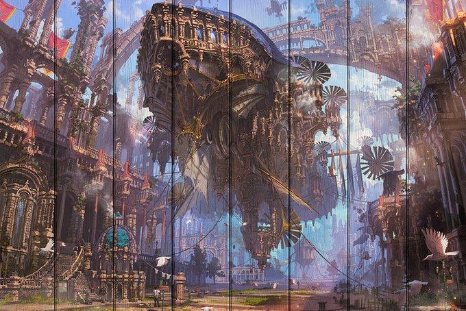Картина на дереве Старый город 60х90