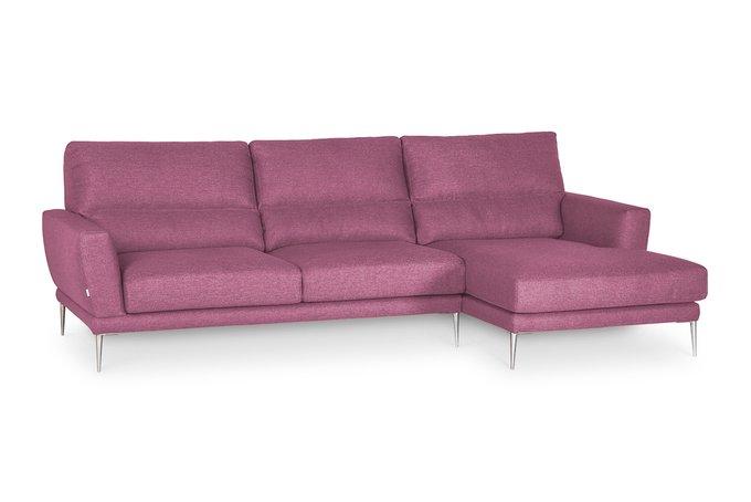 Угловой диван Metropol со съемными чехлами розового цвета