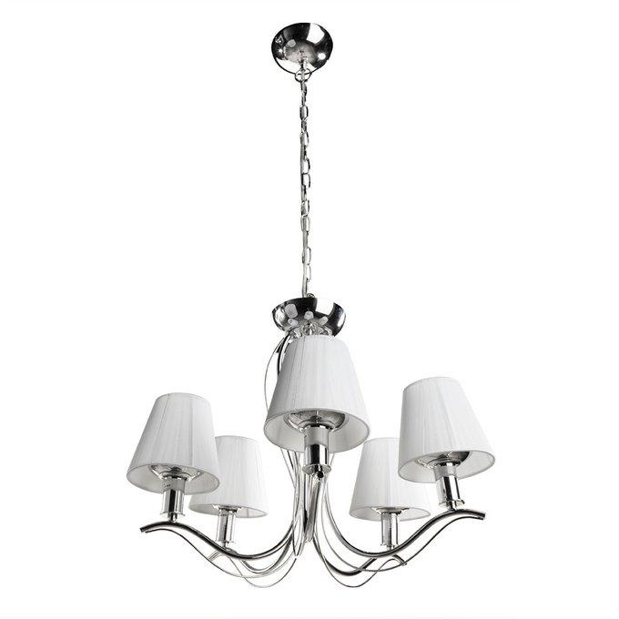 Подвесная люстра Arte Lamp Domain с белыми абажурами