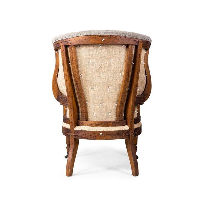 Кресло Mustekala с обивкой из натуральной кожи
