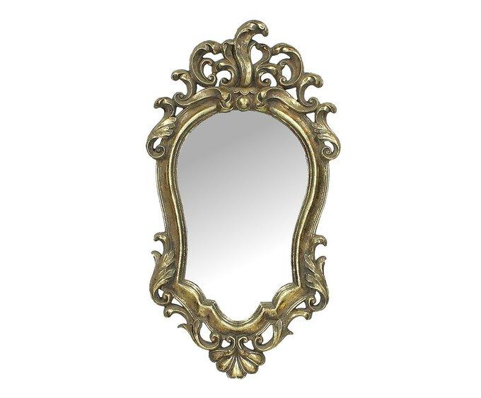 Комплект из двух зеркал в раме золотого цвета