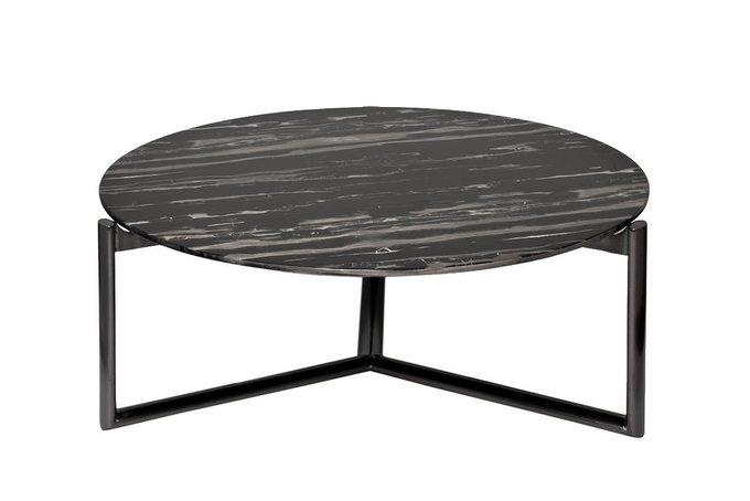 Журнальный стол из стали и мрамора