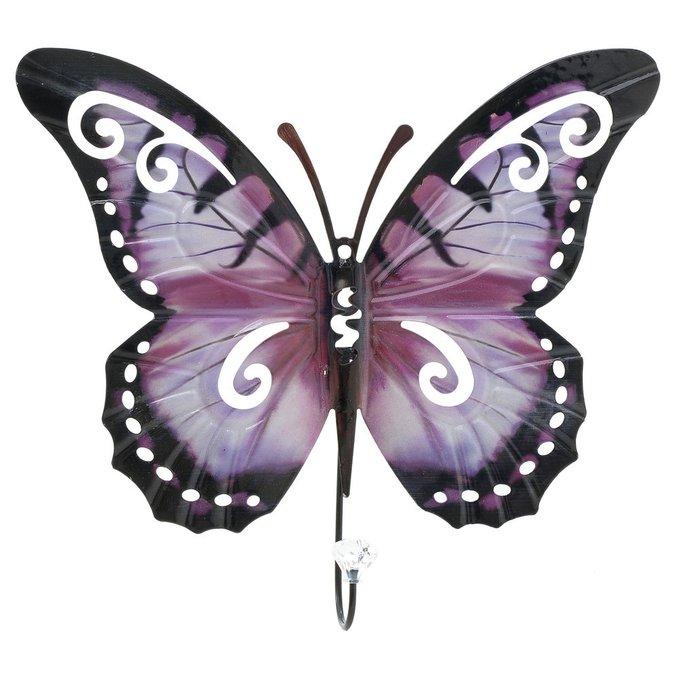 Крючок настенный Бабочка из металла