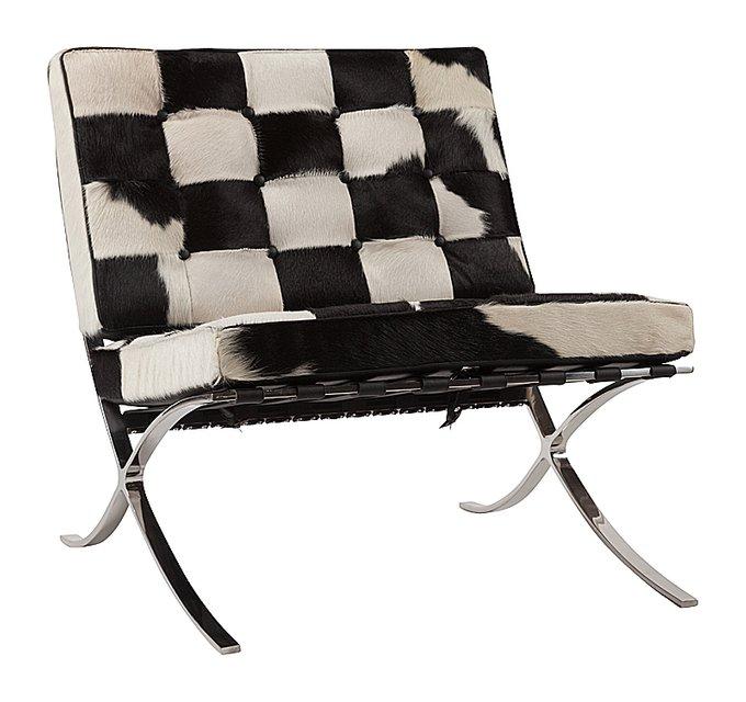 Кресло Barcelona Chair Кожа Пони Класса Премиум
