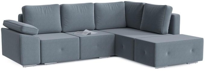 Диван-кровать угловой Хавьер серого цвета