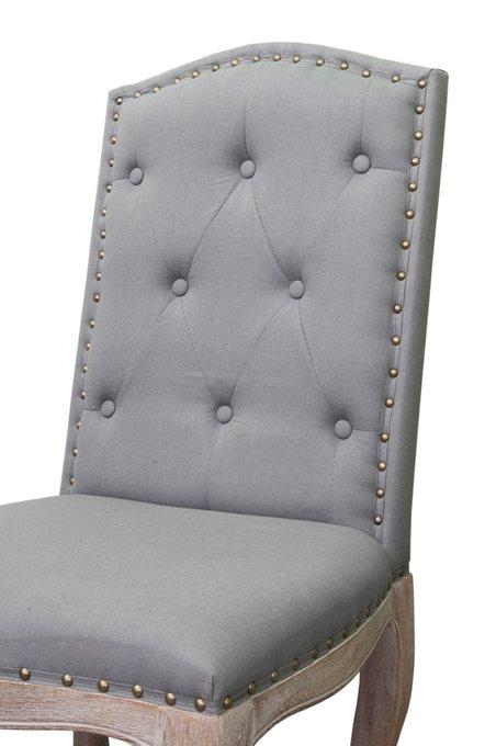 Обеденный стул Melis Grey с обивкой из льна