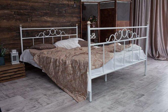 Кованая кровать Сандра 1.8 с двумя спинками 180х200
